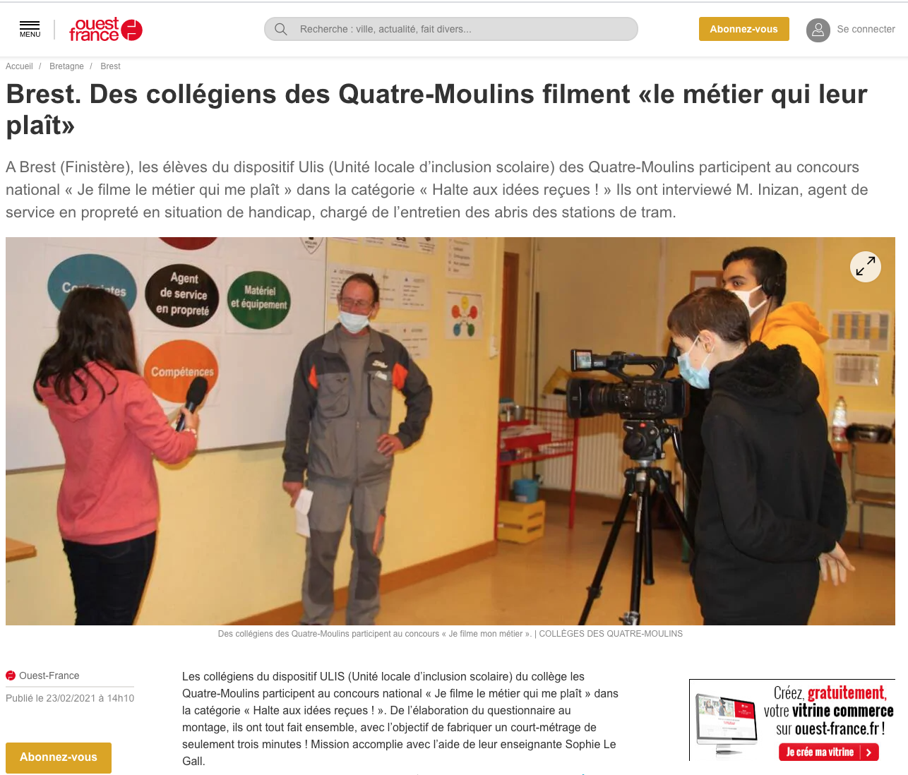 Ouest-France - 23/02/2021