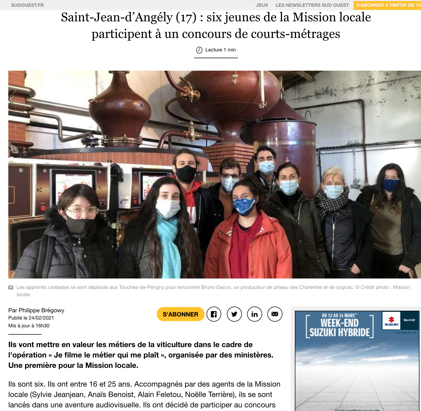 Sud Ouest - 24/02/2021