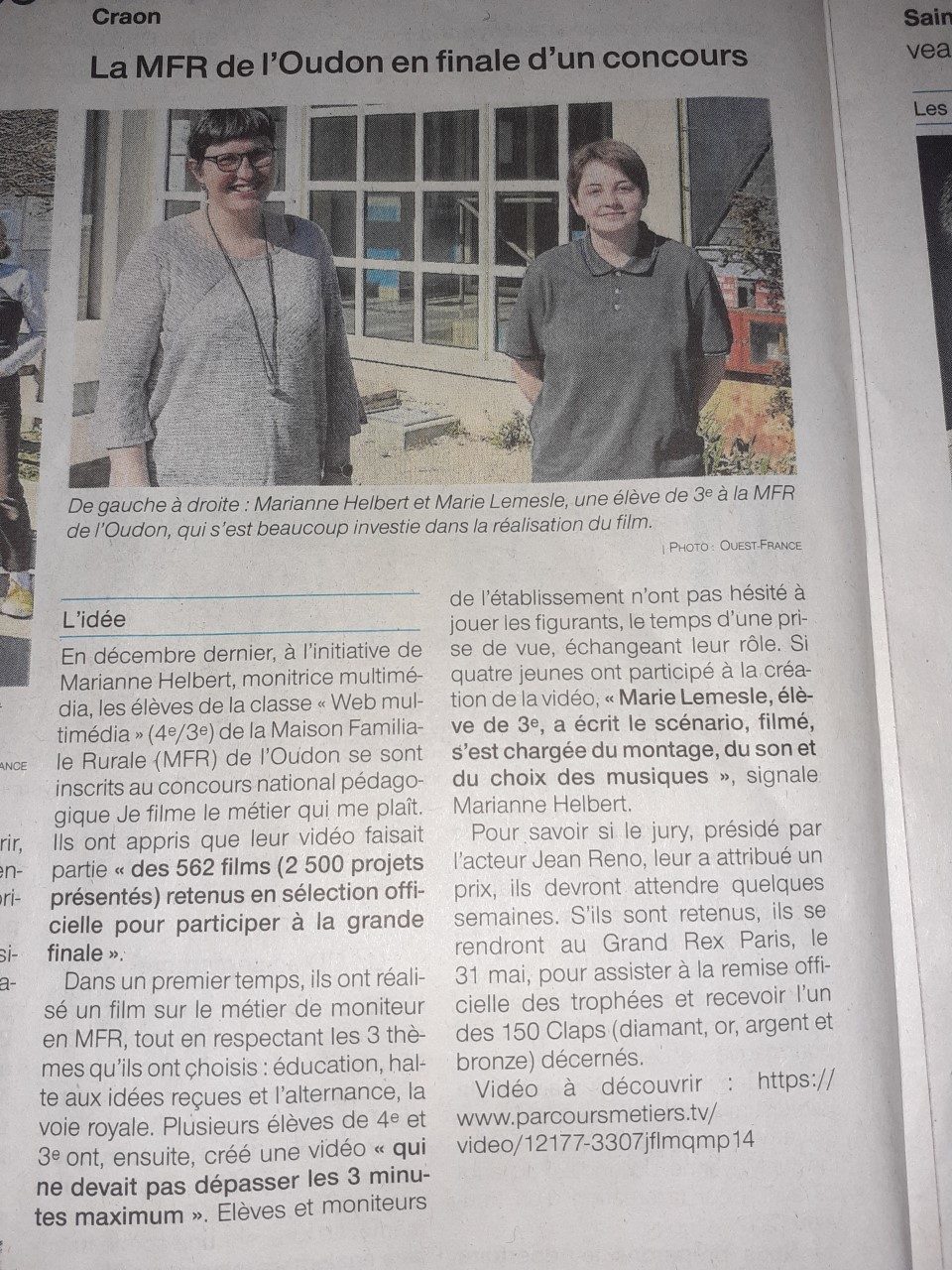 Ouest France - 20/04/2021